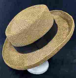 JONES NEW YORK Woven Straw Hat w Box