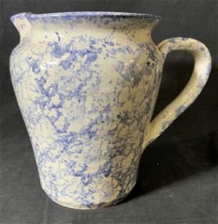 Vintage BEAR Ceramic Spatter Ware Pitcher