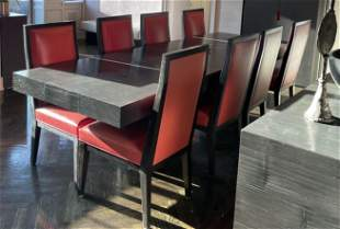 Custom Bamboo Exotic Wood Dining Table