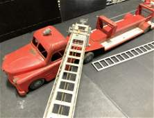 STRUCTO Vintage Steel Toy S.F.D. Firetruck