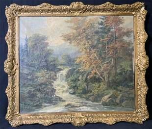 R. EICHER Signed Oil on Canvas Landscape
