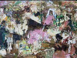 J SALAURE Signed Abstract Oil Painting