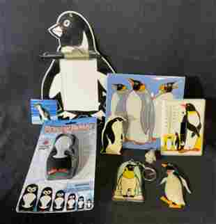 Group Lot 9 Penguin Motif Accessories