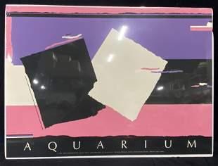 Pair Walker Benjamin-Aquarium-1986 Serigraphs