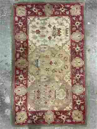 Vintage Floral Detailed Wool Area Rug