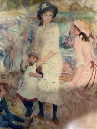 RENOIR Children on the Seashore Offset Lithograph