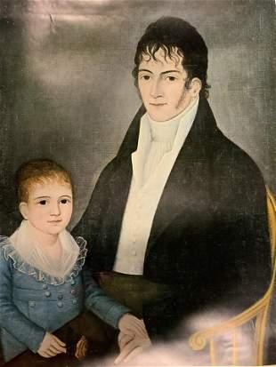 JOSHUA JOHNSON Father & Son Offset Lithograph