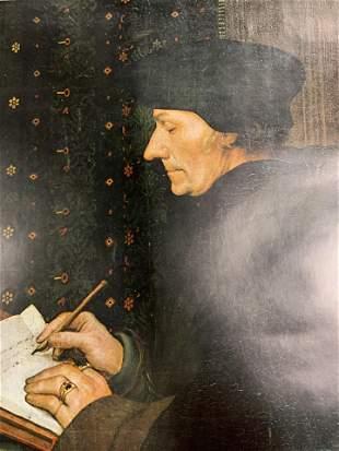 HANS HOLBEN Portrait of Erasmus Offset Lithograph