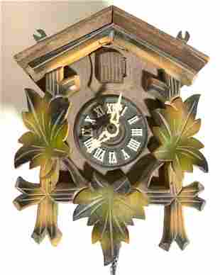 Vintage Carved Wooden Cuckoo Clock