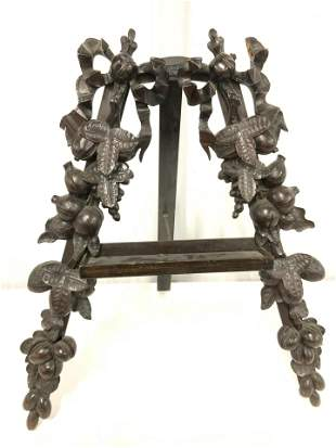 Collectible Carved & Hnd Made Wood Table Easel