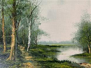 WALLACE Signed Oil Painting, Landscape