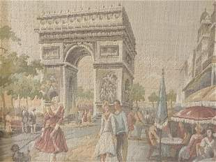 Framed Needlepoint of The Arc de Triomphe