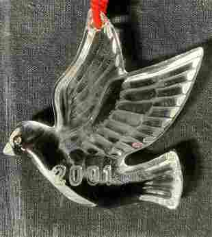 WATERFORD Crystal Dove Ornament