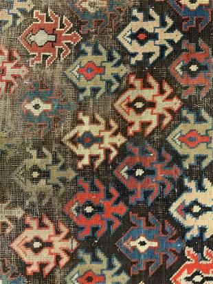 Antique Handmade Wool Area Rug