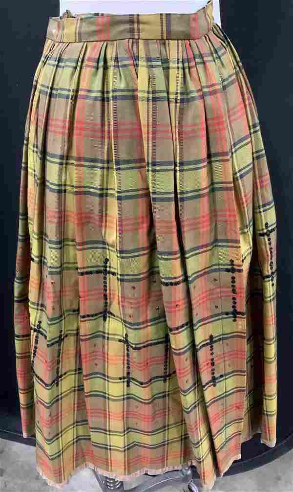 Grp 2 Vintage Levi's Denim & Long Pleated Skirts