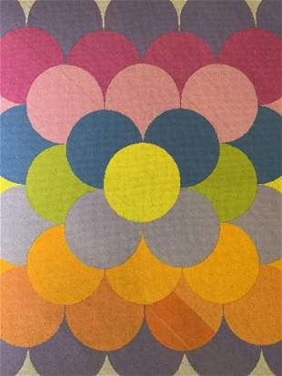 SK Initialed Textile Artwork 1973