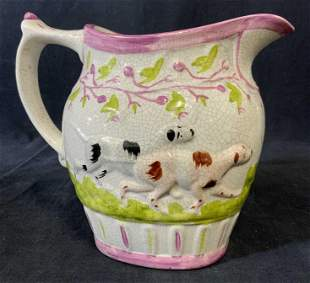 Vintage Hand Painted Ceramic Pitcher