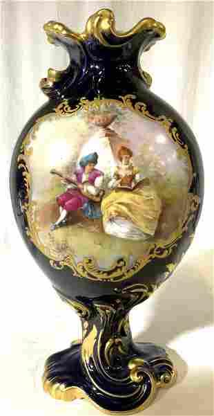 WM GUERIN CO LIMOGES Ornate Porcelain Vase