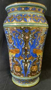 Hand Painted Ceramic Mosaic Style Planter, Italy