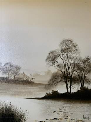 HARIMOND Signed Oil Painting, Landscape