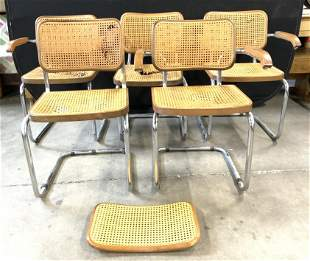 Lot 5 MCM MARCEL BREUER Style Chairs