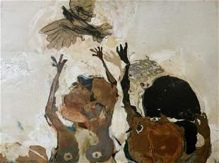 MARBURO Signed Mixed Media Artwork 1963