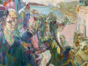 ANTHONY TONEY Signed Oil on Canvas 1974