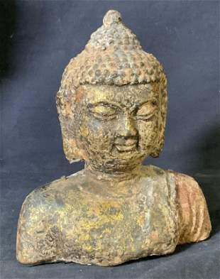 TIBET Buddha Concrete Bust Sculpture