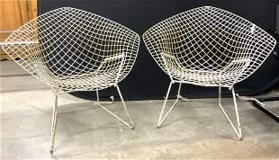 Pair Vintage MCM KNOLL Bertoia Diamond Chairs