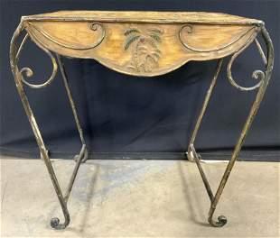 Vintage Metal & Toleware Side Table