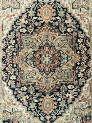KARASTAN Navy HERIZ Handmade Wool Rug