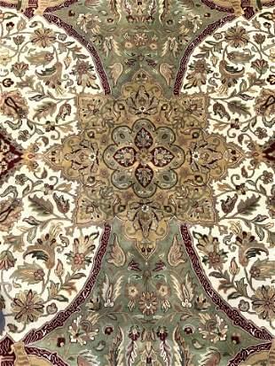 Vntg Handmade Oversized Oriental Wool Rug