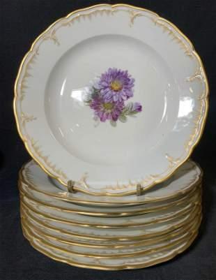 Set 8 Vintage KPM Porcelain Dishes