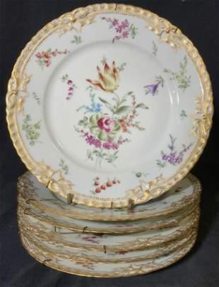 Set 6 THEODORE HAVILAND Porcelain Plates