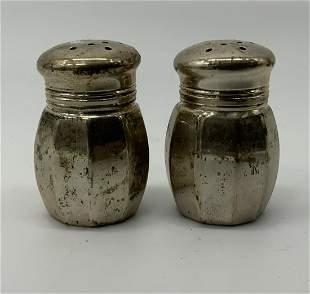 Pair EMPIRE Sterling Silver Salt & Pepper Shakers