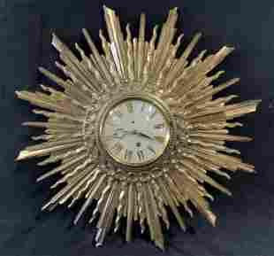 Art Deco Star Burst Wall Clock