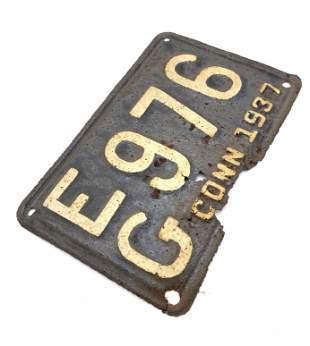 Collectible Vintage Connecticut License Plate