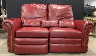 BARCALOUNGER Reclining Leather Theater Sofa