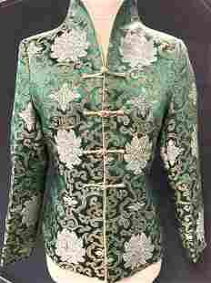 YUNDAI Green & Gold Chinese Jacket, new w tags