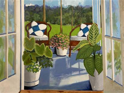 HELIKER Signed Acrylic on Canvas Artwork