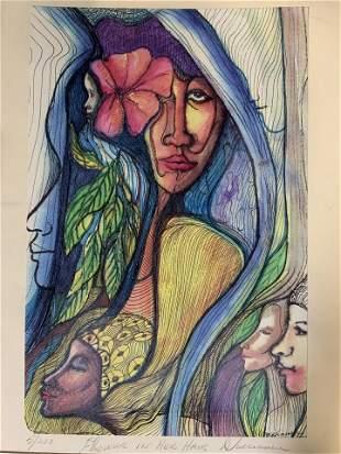 Signed Ltd Ed Lithograph, Portrait