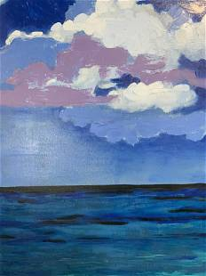CAROLE ELAINE GREEN Signed Acrylic on Canvas
