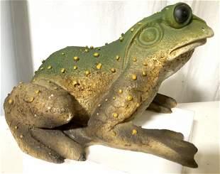 Composite Toad Lawn Ornament Jardiniere