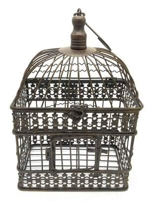 Vintage Metal Hanging Bird Cage