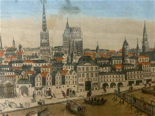 MONDHARD Etching of Rouen, Normandy, France