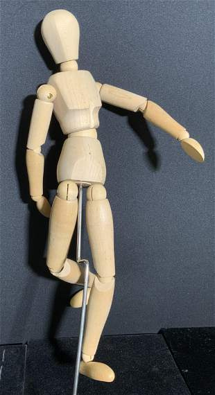 Articulated Wooden Male Manikin, Boxed
