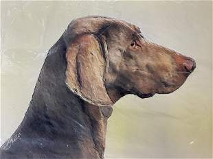 Lot 3 Offset Lithographs & Photograph of Dogs