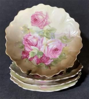 Set of 4 Z S & CO Porcelain Plates