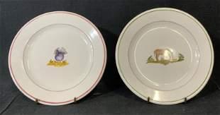 Lot of 2 ATELIER DE SEGRIES Ceramic Plates