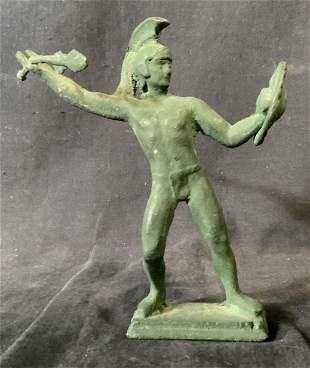 Primitive Bronze Warrior Statue